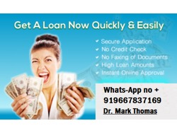 Loan Offer Contact us Here Whats-App no 919667837169